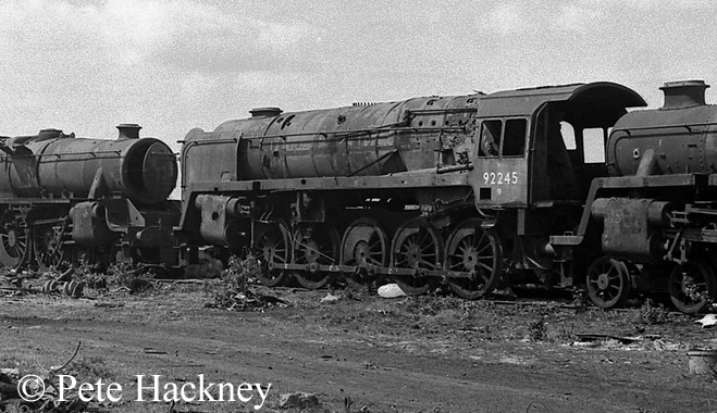 92245 in Woodham's scrapyard - 1975