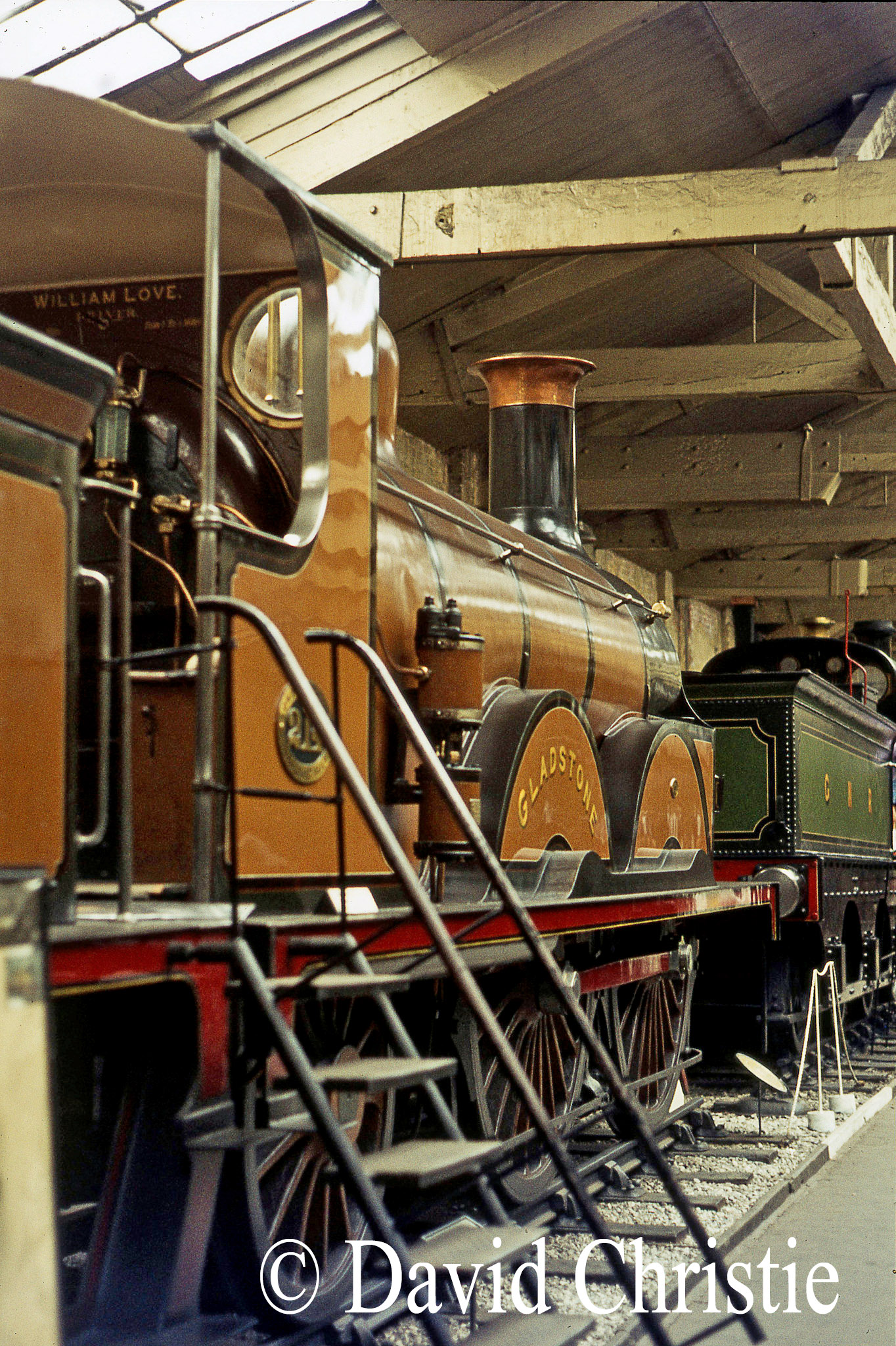 214 Gladstone in the British Transport Museum at York - July 1972