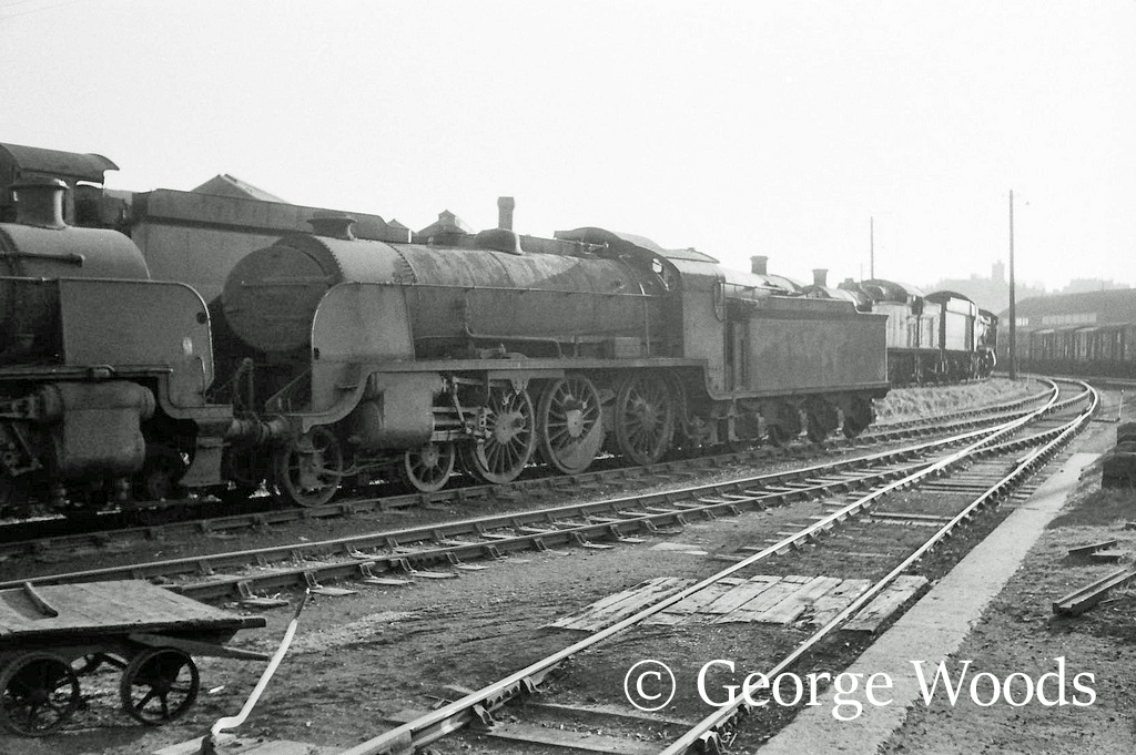 30825 in Woodham's scrapyard at Barry - March 1965.jpg