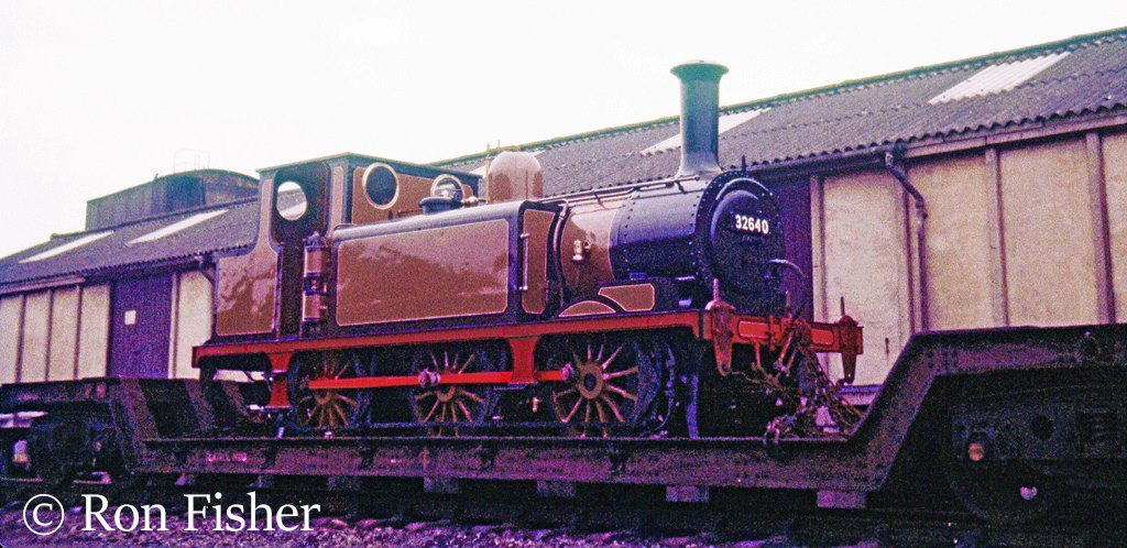 32640 in the yard at Pwellheli on its way to the Btlin's Holiday Camp at Penychain - August 1964.jpg