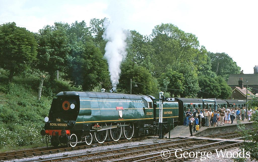 34023 Blackmoor Vale on the Bluebell Railway - 1960 or 70s.jpg