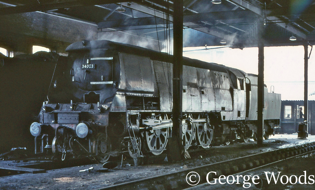 34023 Blackmore Vale on Guildford shed - February 1967.jpg