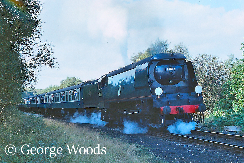 34072 257 Squadron on the North Yorkshire Moors Railway - October 1991.jpg