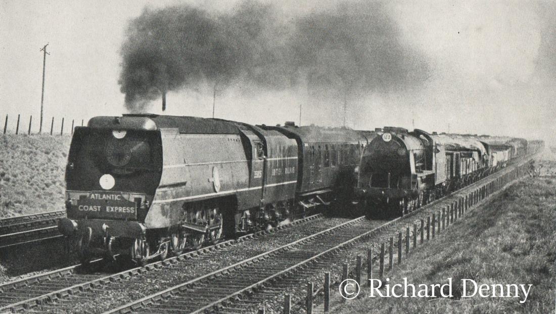 35005 Canadian Pacific hauling the Atlantic Coast Express near Basingstoke - 1950.jpg
