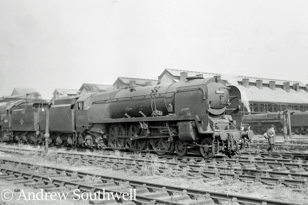 35029 Ellerman Lines on Nine Elms shed after withdrawal from service - September 1966.jpg