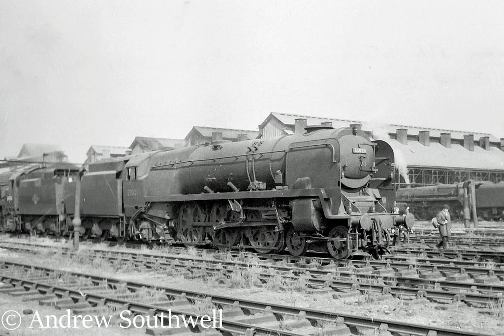 35029 Ellerman Lines on Nine Elms shed after withdrawal from service - September 1966.jpg
