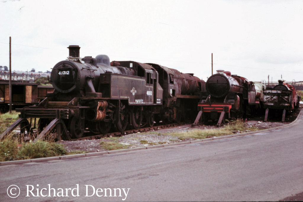 41312 in Woodham's scrapyard at Barry - 1973.jpg