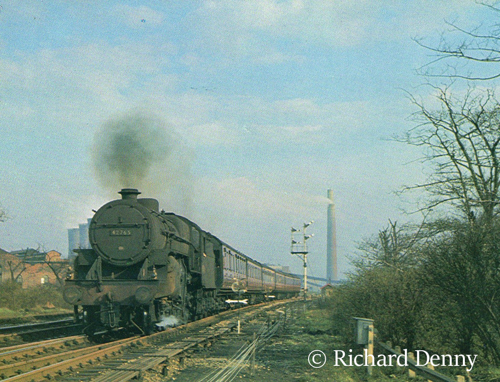 42765 departs from Clifton Junction with a train from Manchester Victoria to Blackburn - April 1964.jpg