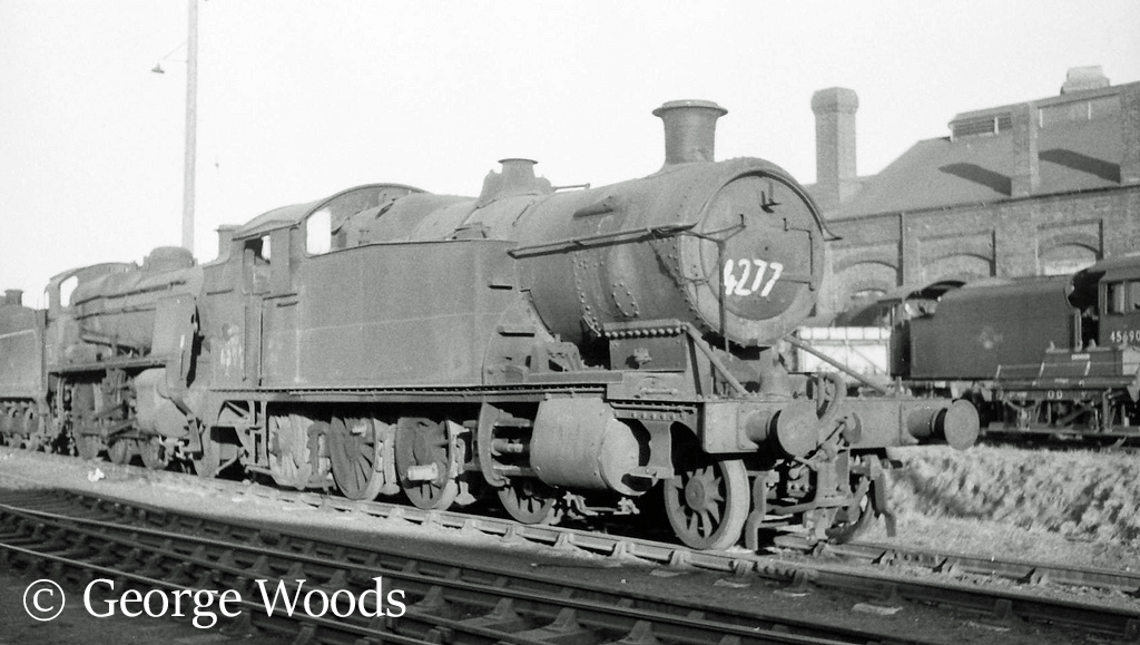 4277 in Woodham's scrapyard at Barry - March 1965.jpg