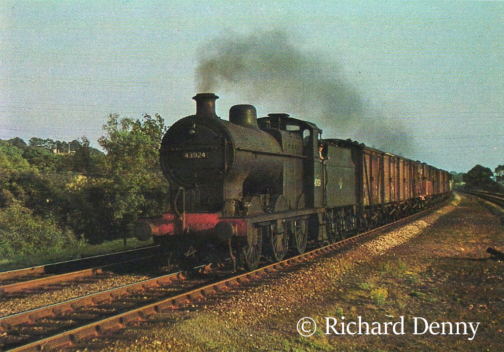 43924 on Great Western territory at Widney Manor - 1959.jpg