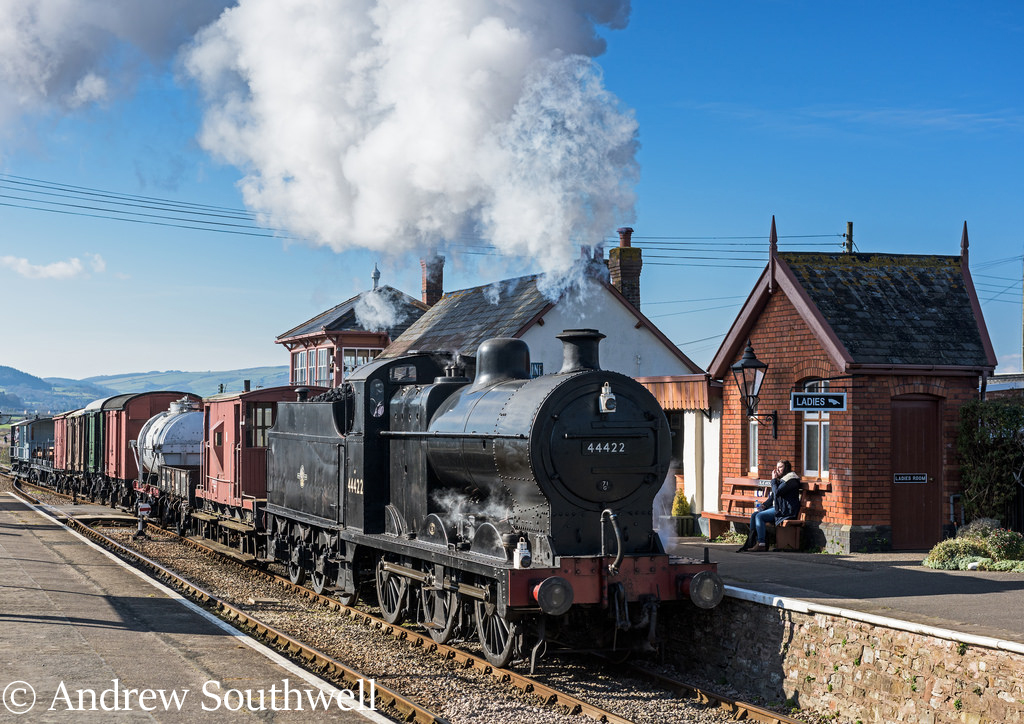44422 on a demo goods at Blue Anchor on the West Somerset Railway - March 2016.jpg