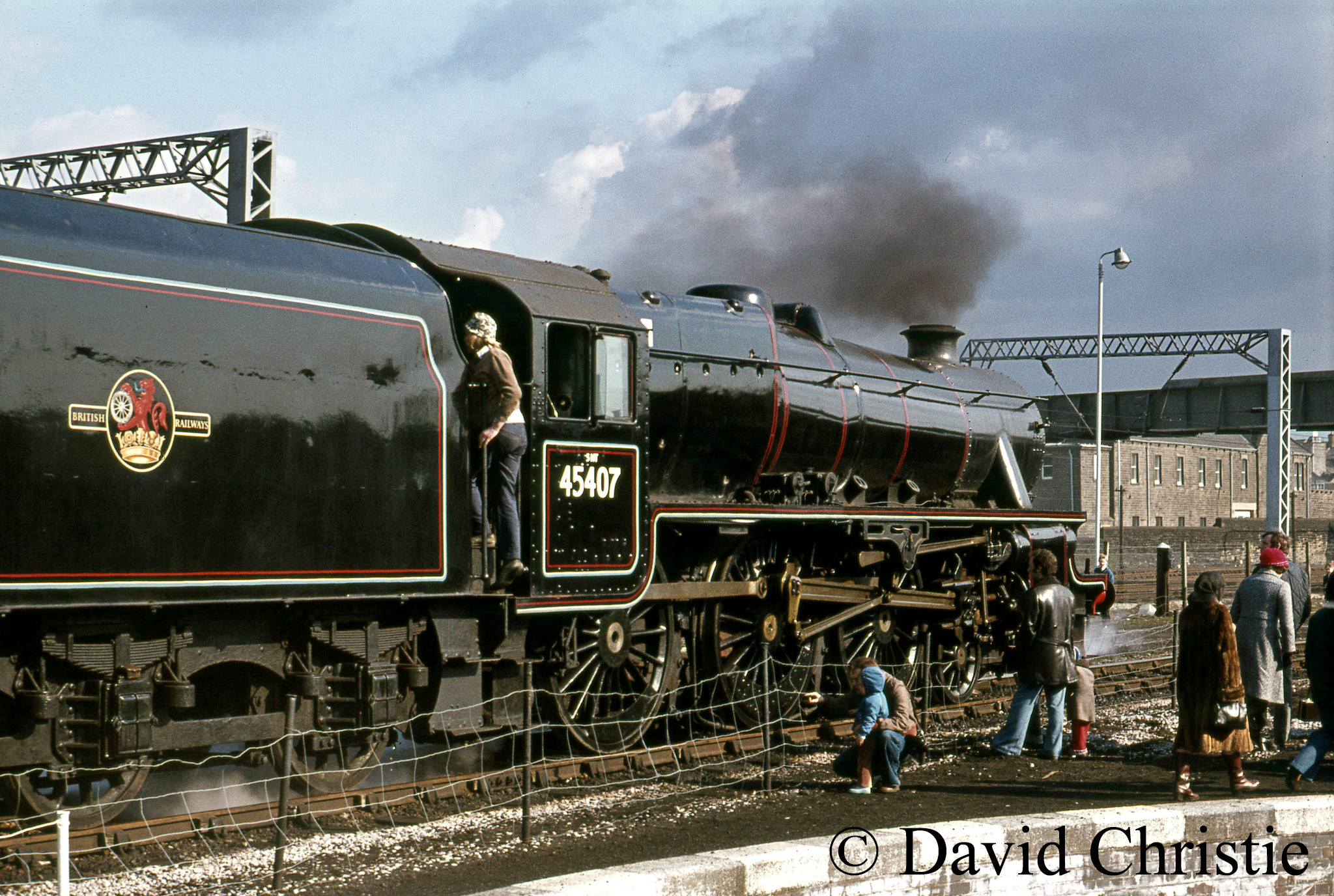 45407 at Steamtown, Carnforth - April 1977.jpg
