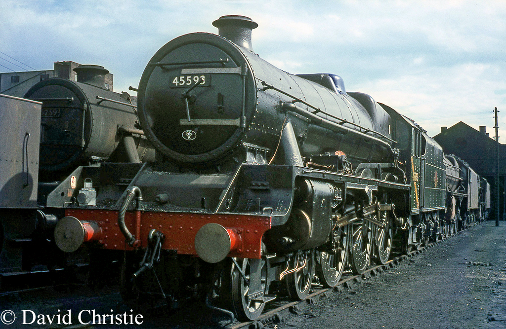 45593 Kholapur on Carlisle Kingmoor shed - August 1967   c.jpg