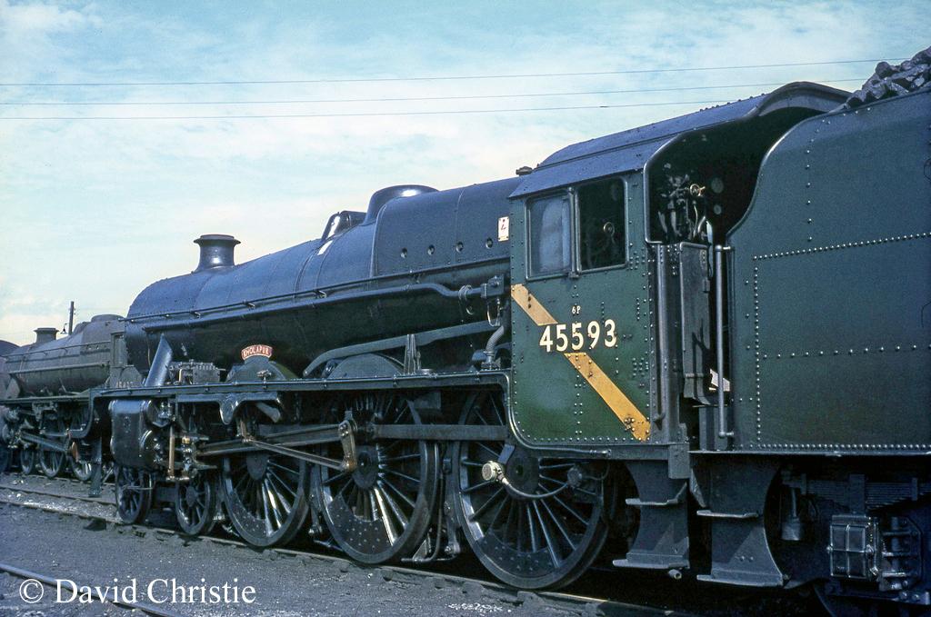 45593 Kholapur on Carlisle Kingmoor shed - August 1967.jpg