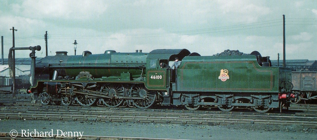 46100 Royal Scot on shed at Derby - 1955.jpg