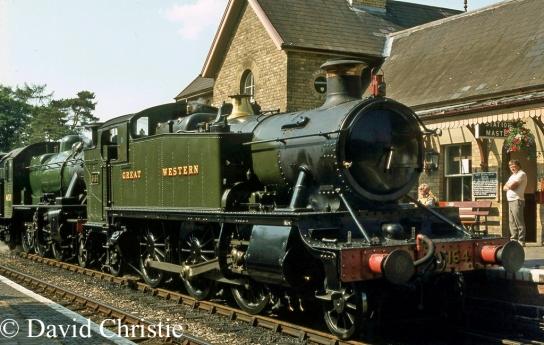 5164 pilots 46521 at Arley on the Severn Valley Railway - July 1983.jpg