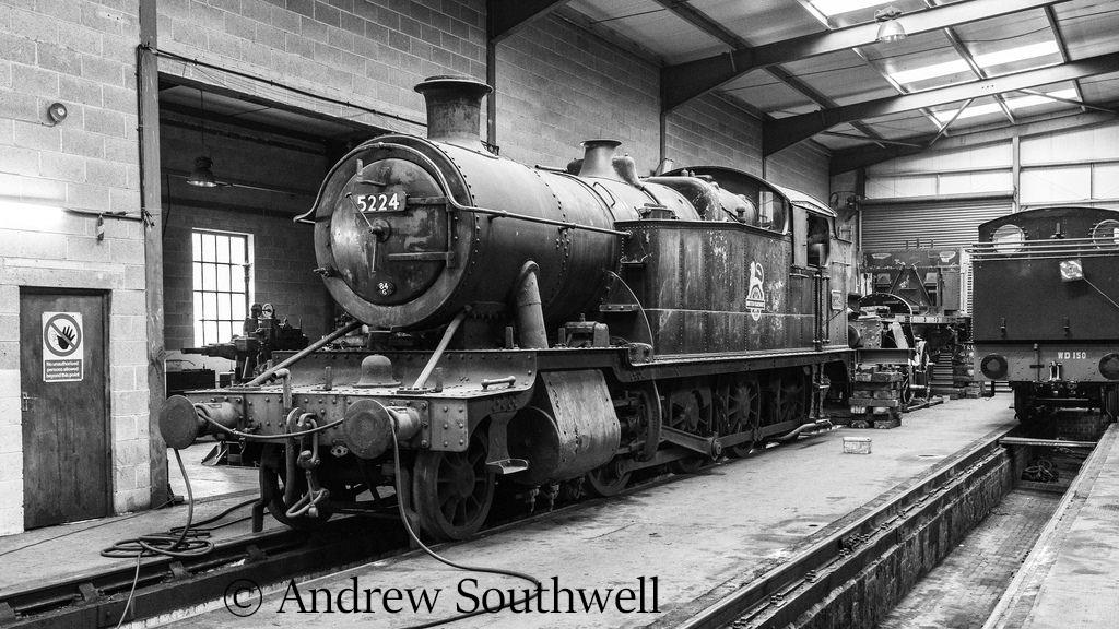 5224 in the workshop at Peak Rail - August 2018.jpg