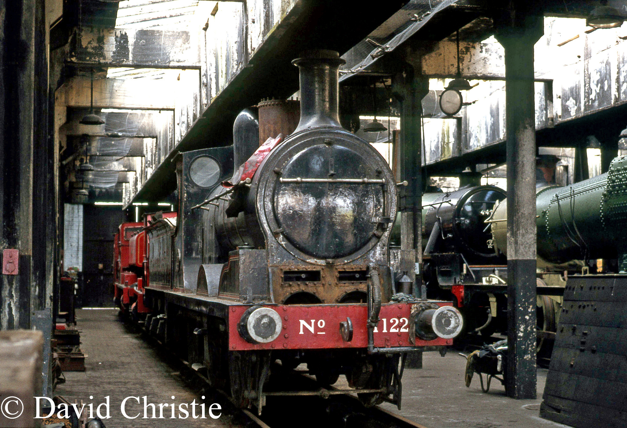 52322 inside the shed at Steamtown, Carnforth - April 1977.jpg