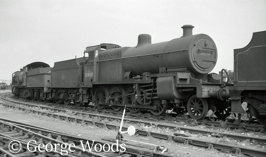 53808 in Woodham's scrapyard at Barry - June 1964.jpg