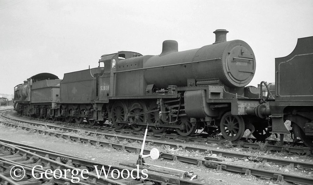 53808 in Woodham's scrapyard at Barry - June 1964.jpg