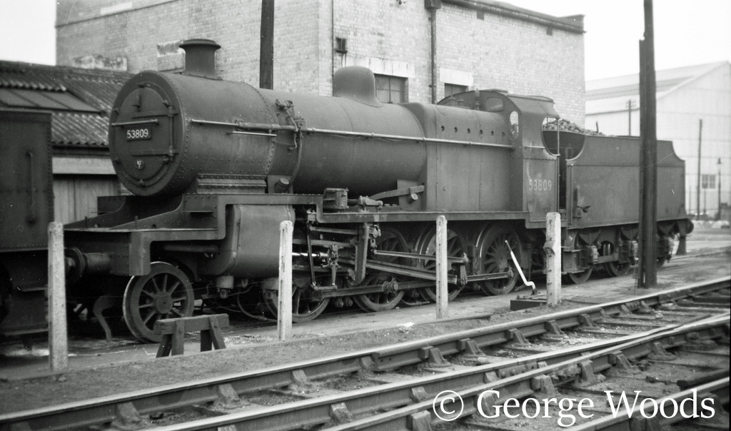 53809 at Bath Green Park shed - April 1960.jpg