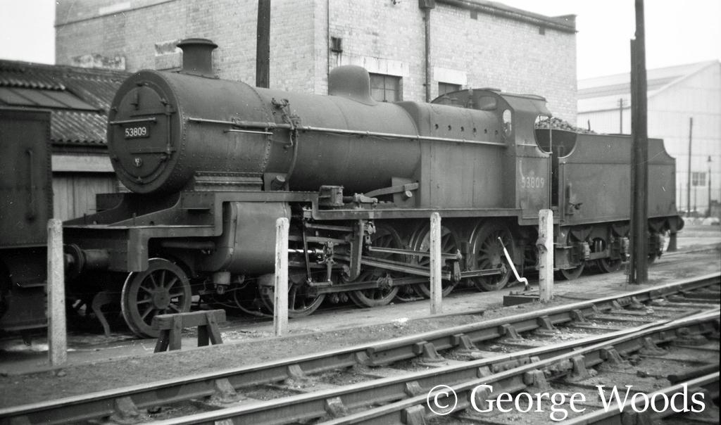 53809 at Bath Green Park shed - April 1960.jpg
