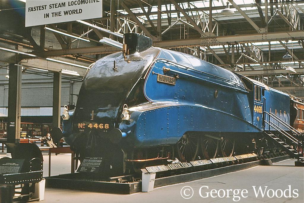 60022 Mallard in the British Transport Museum at Clapham -1972.jpg