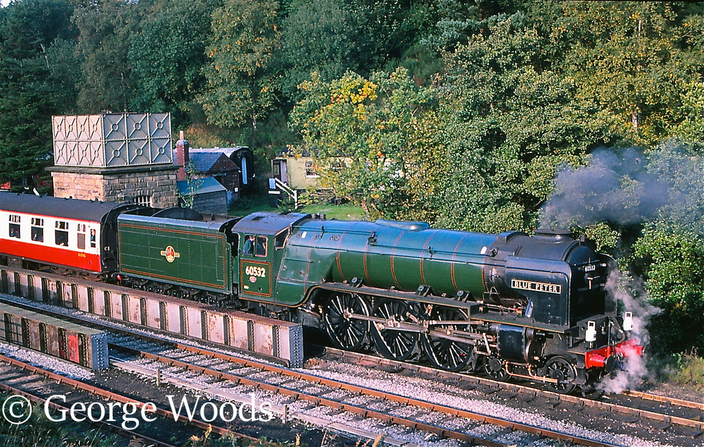 60532 Blue Peter at Goathland on the North Yorkshire Moors Railway - October 1996.jpg