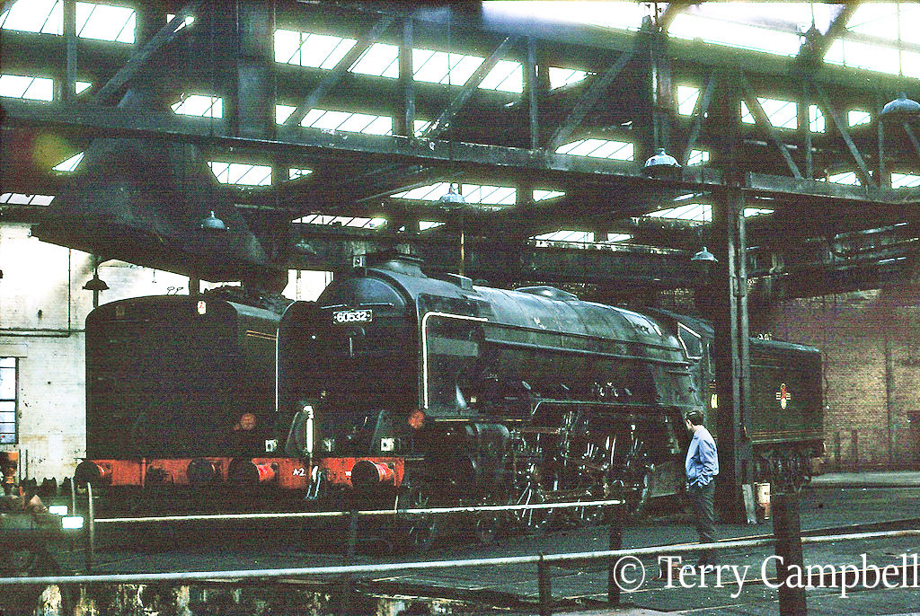 60532 Blue Peter in York shed (now the museum) shortly after it arrived for storage - October 1968