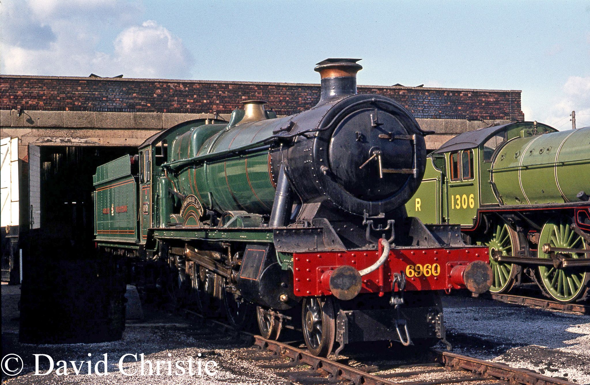 6960 Raveningham Hall at Steamtown, carnforth - April 1977.jpg