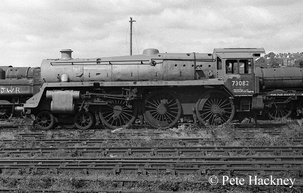 73082 Camelot in Woodham's scrapyard at Barry - 1975.jpg