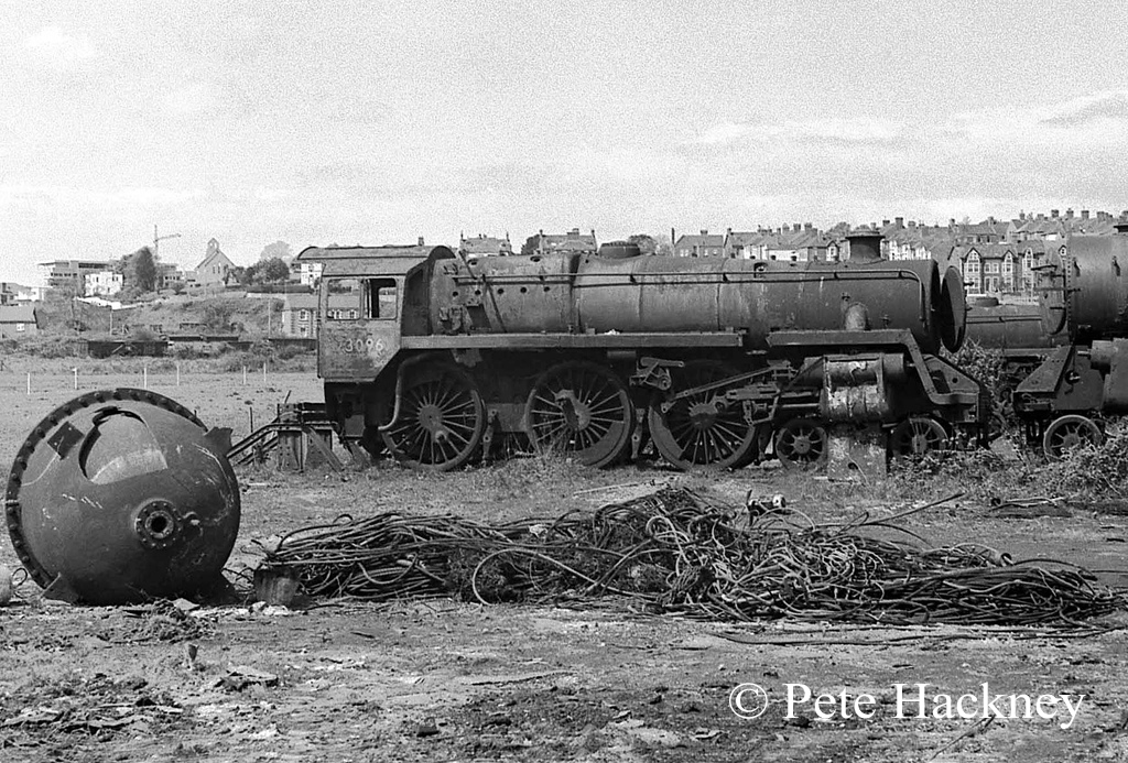 73096 in Woodham's scrapyard at Barry - 1975.jpg
