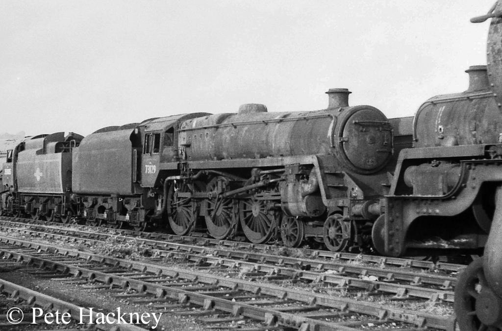 73129 in Woodham's scrapyard at Barry - October 1968.jpg