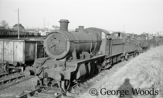 7325 in Woodham's scrapyard at Barry - March 1965.jpg