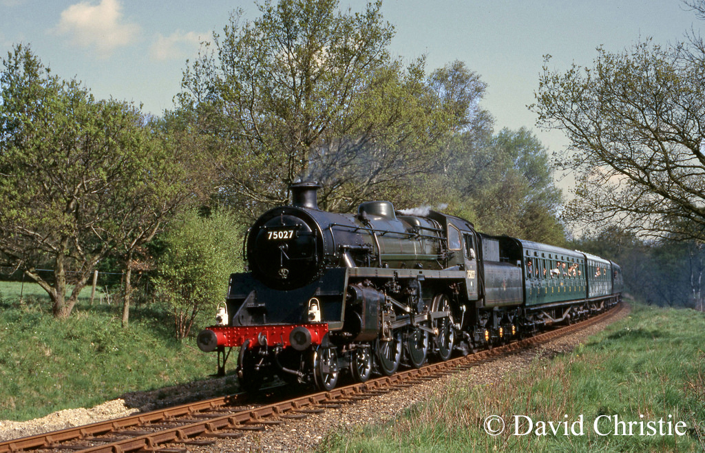75027 near Freshfield Halt on the Bluebell Railway - May 1987.jpg