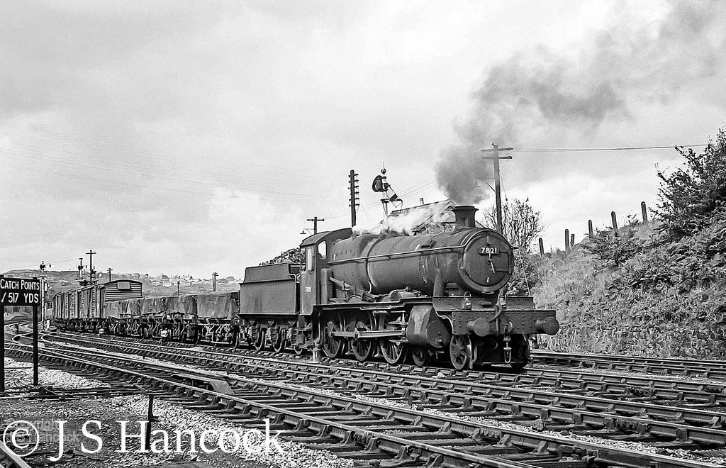 7821 Ditcheat Manor at Hollinwood Sidings (Telford) with a fitted freight on the Shrewsbury-Wolverhampton line - September 1965.jpg