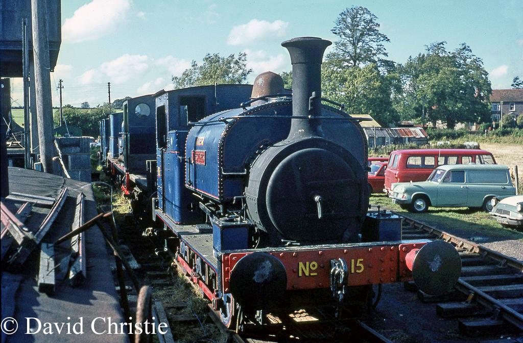 Hunslet Works No 469 at Rolvenden on the Kent & East Sussex Railway - September 1968.jpg