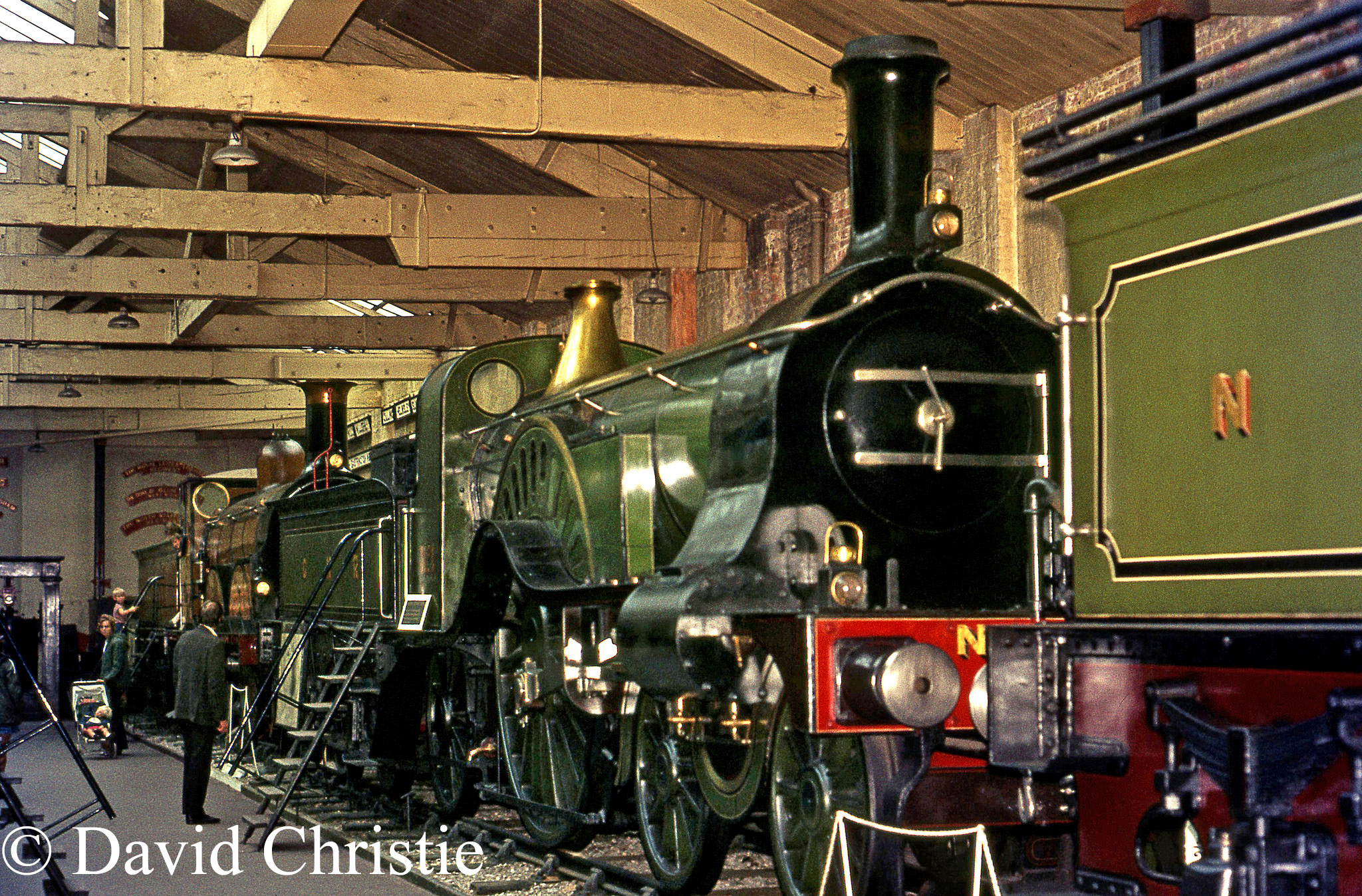 Stirling Single in the British Transport Museum at York - July 1972.jpg