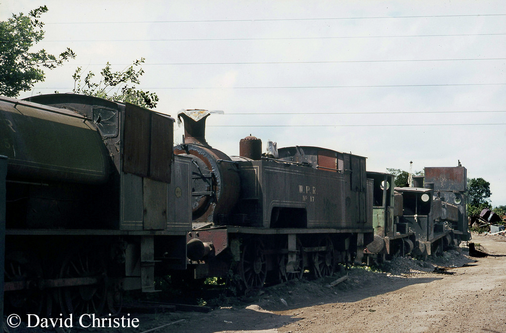 Wemyss Private Railway No 17 in the scrapyard south of Thornton - June 1973.jpg