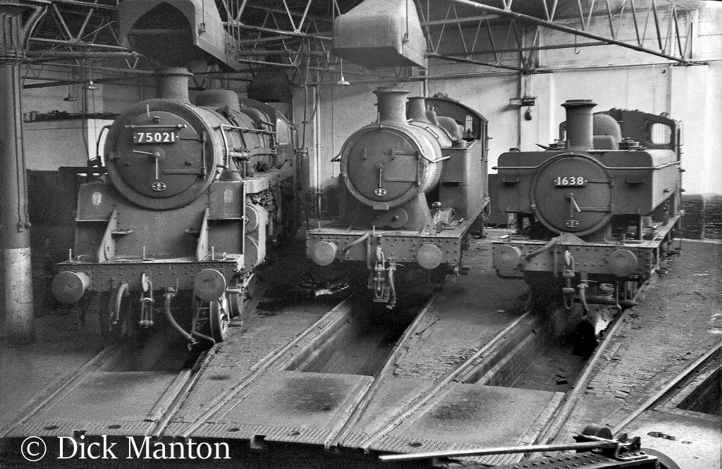 1638 on the right on Croes Newydd shed - November 1965.jpg