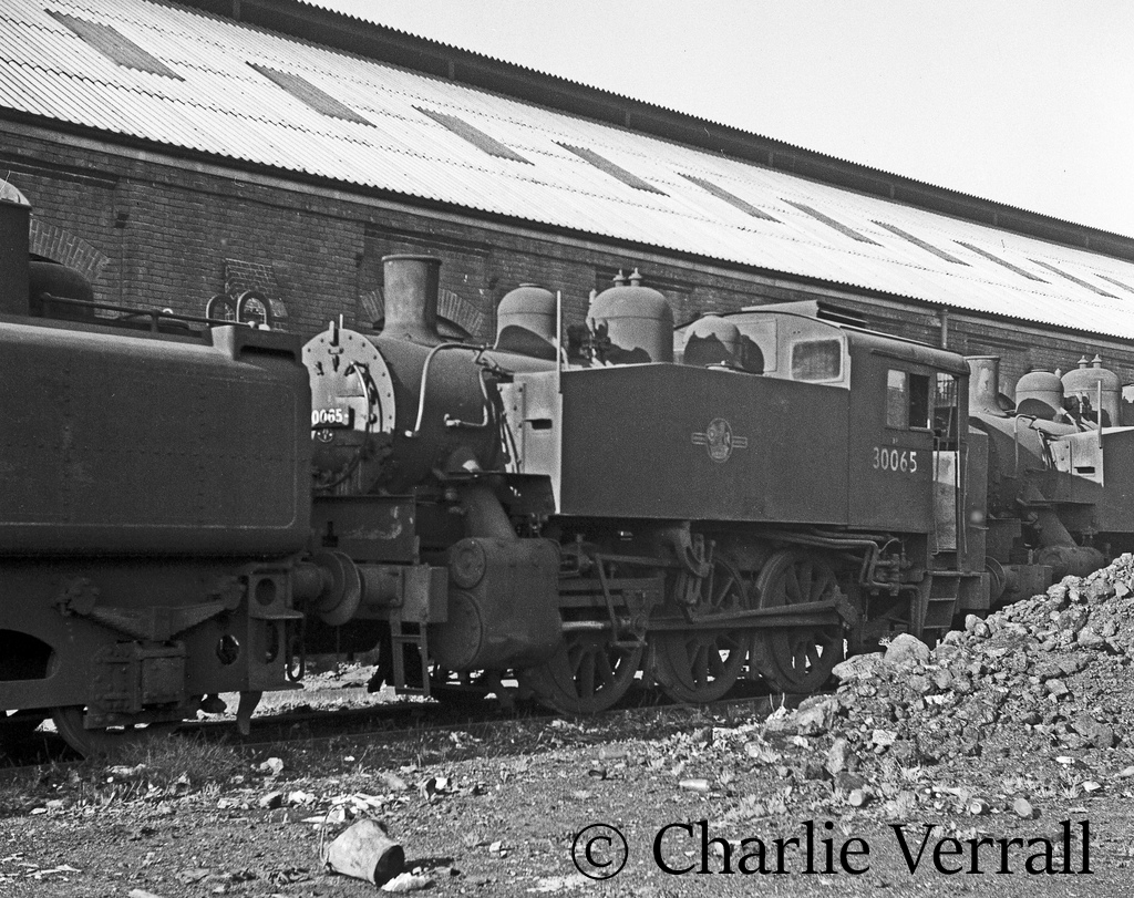 30065 on shed at Eastleigh – October 1962.jpg
