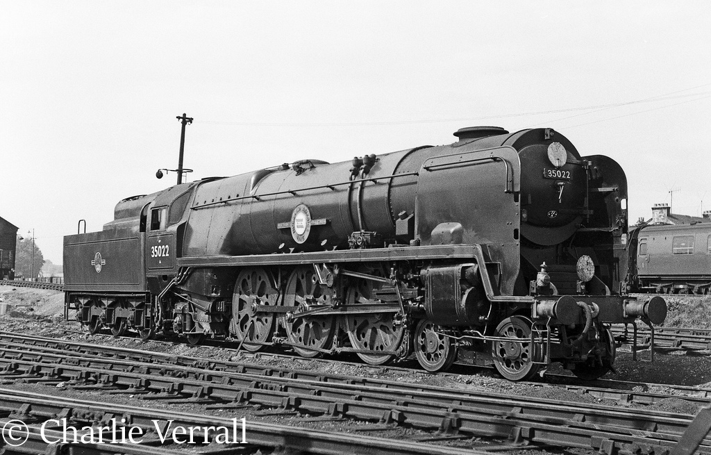 35022 Holland America Line on Salisbury shed – September 1962.jpg
