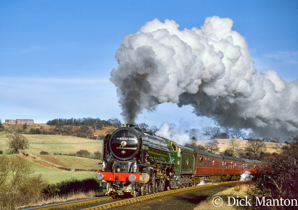 60532 Blue Peter climbing to Goathland on the North Yorkshire Moors Railway - December 1991.jpg