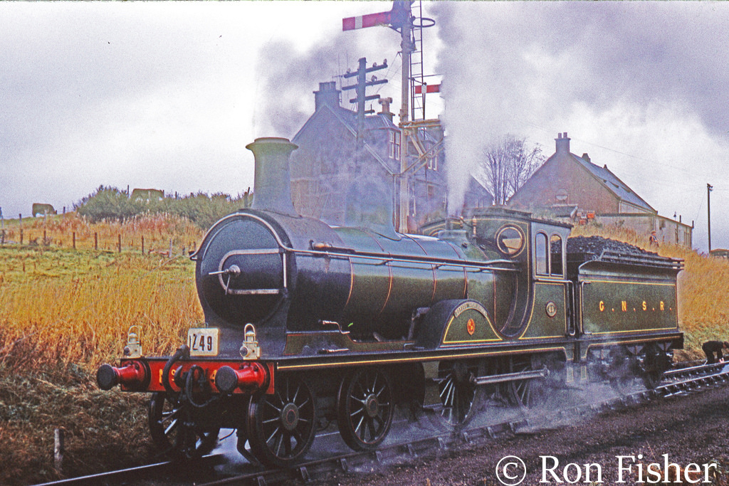 62277 Gordon Highlander at Ponfeign near Lanark whilst working at special train from Glasgow Central to Glasgow St Enoch via branch lines in west Scotland - October 1965.jpg