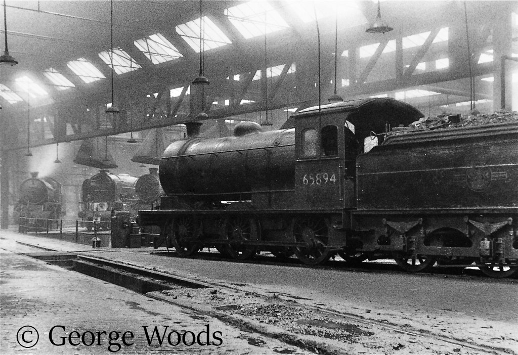 65894 in the roundhouse at York shed (now the museum) - September 1965.jpg