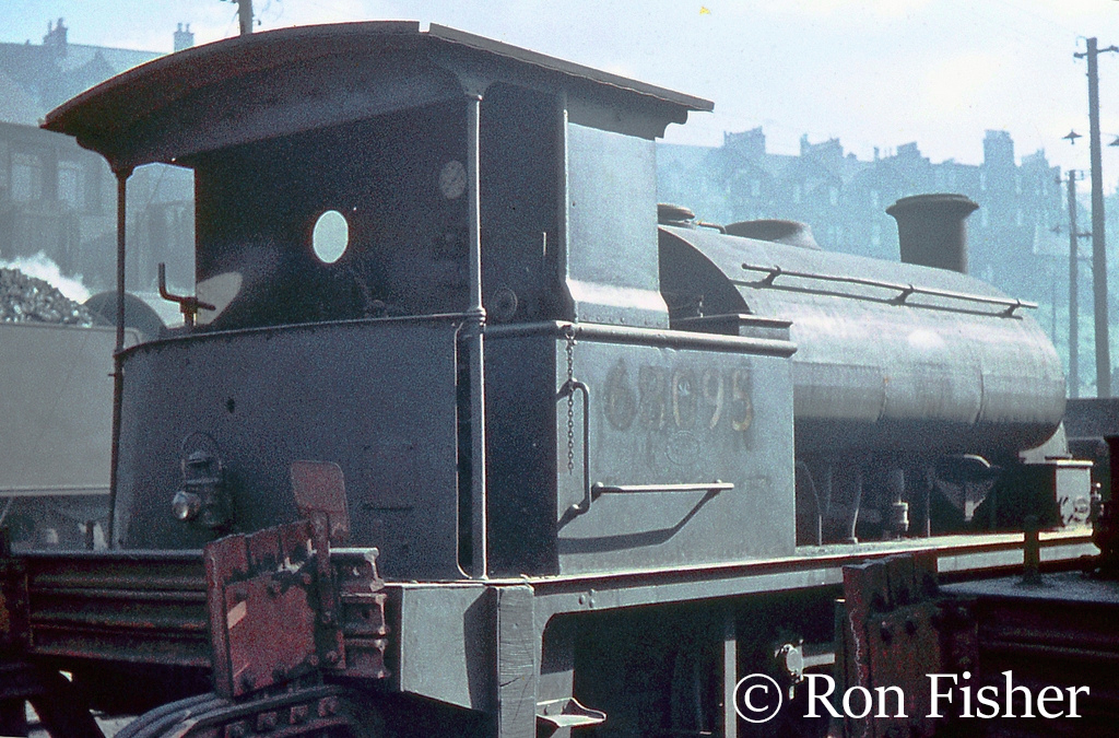 68095 on shed at St Margarets in Edinburgh - June 1960.jpg