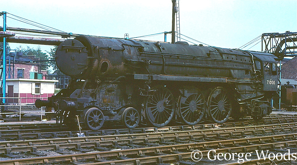 71000 Duke of Gloucester at Crewe Works - October 1966.jpg