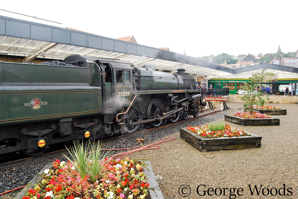 75029 at Whitby on the North Yorkshire Moors Railway - August 2013.jpg