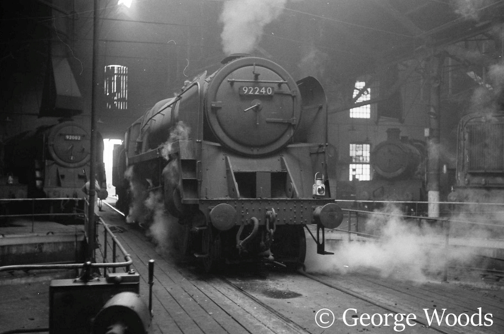 92240 in Tyseley shed - June 1965