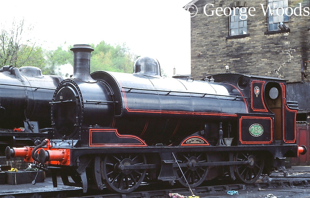 L&Y 752 at Haworth on the KWVR - May 1981